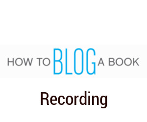 how-to-blog-a-book-recording