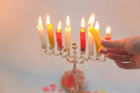 The Shamash is the servent or helper candle