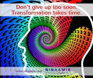 dont' give up on transformation