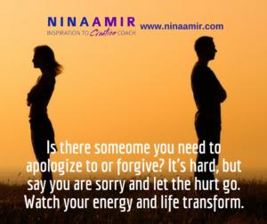 Monday Inspiration: Apologize and Forgive