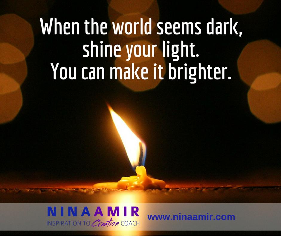 shine a light unto the world