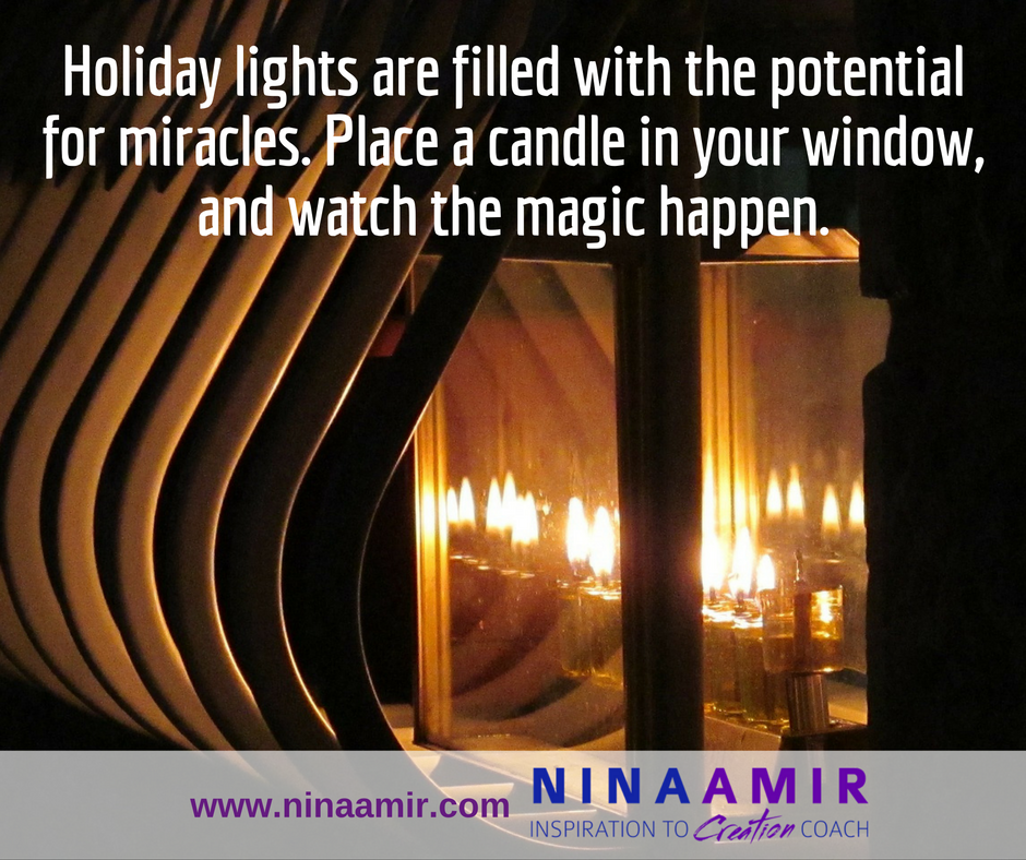 Chanukah candles bring light and miracles