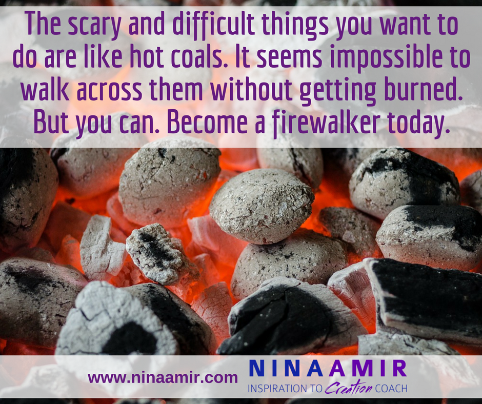 you can walk on hot coals and become a firewalker