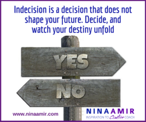 Monday Inspiration: Make Decisions