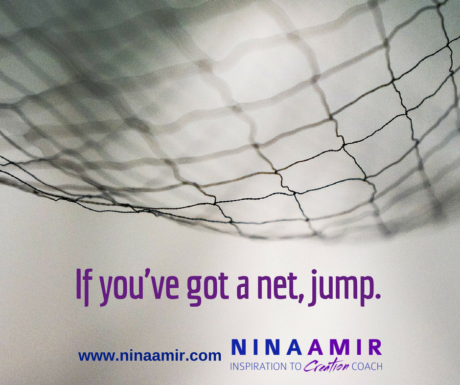 if you have a net--insurance--it's time to jump