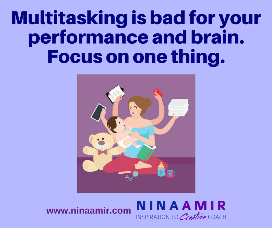 don't multitask