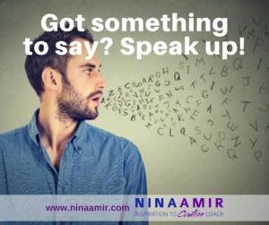 Create Inspired Results: Speak Up