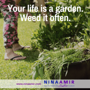 pull weeds in your garden