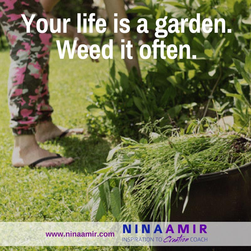 pull weeds in your garden