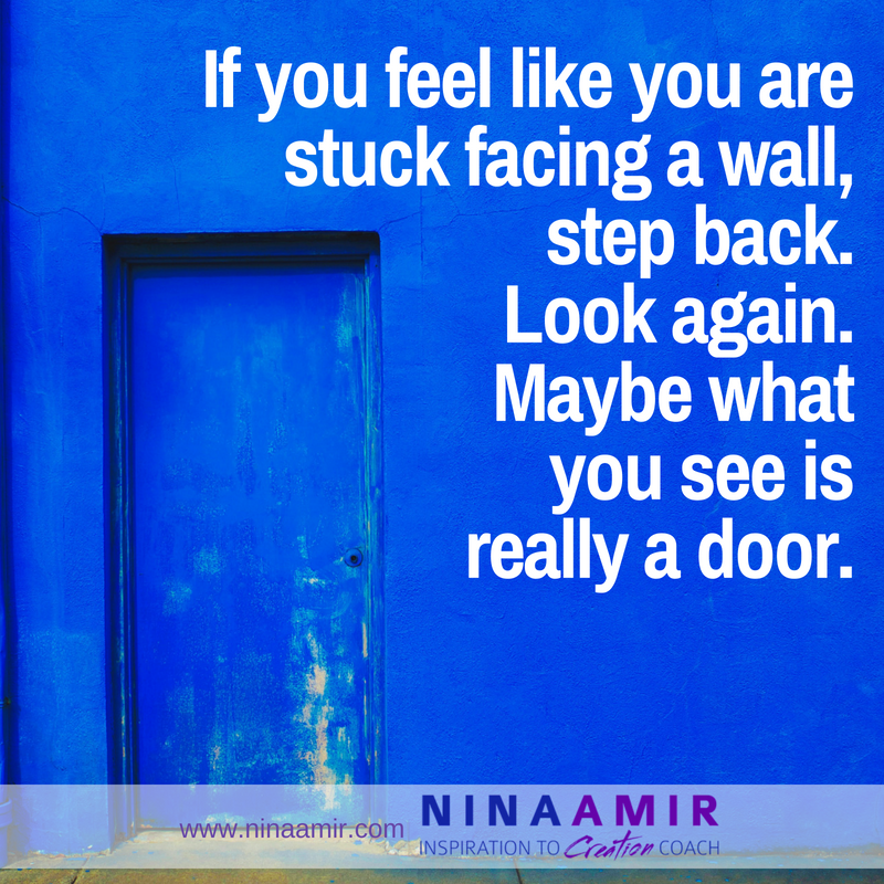 how to get unstuck when facing a wall