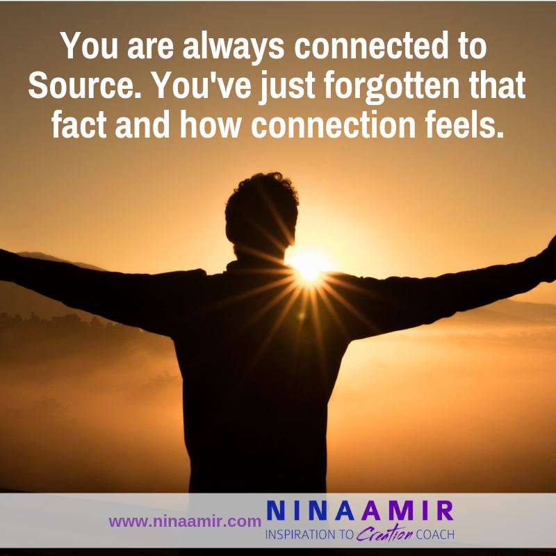 remember your spiritual connection--you are always connected