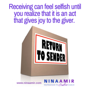 why is receiving harder than giving