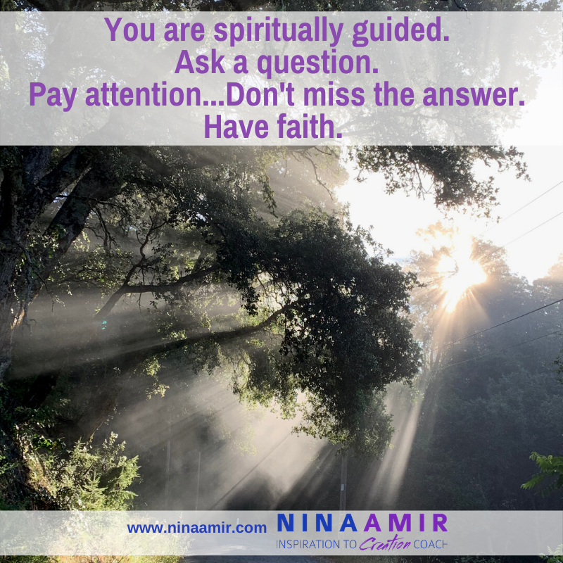 You are spiritually guided--just learn to ask for and receive messages