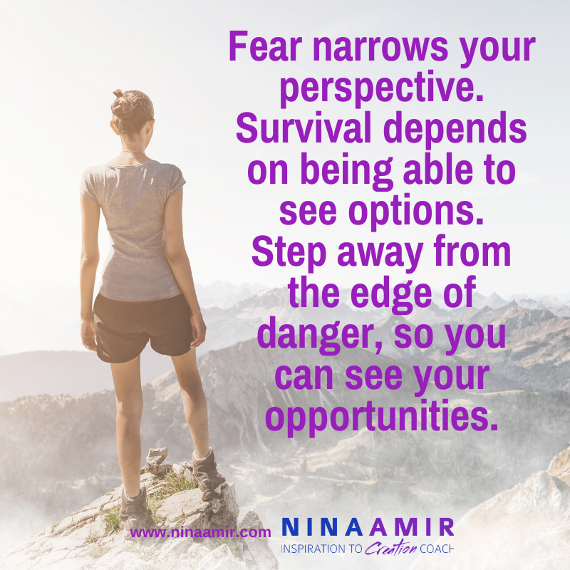 reduce fear to find perspective and see options