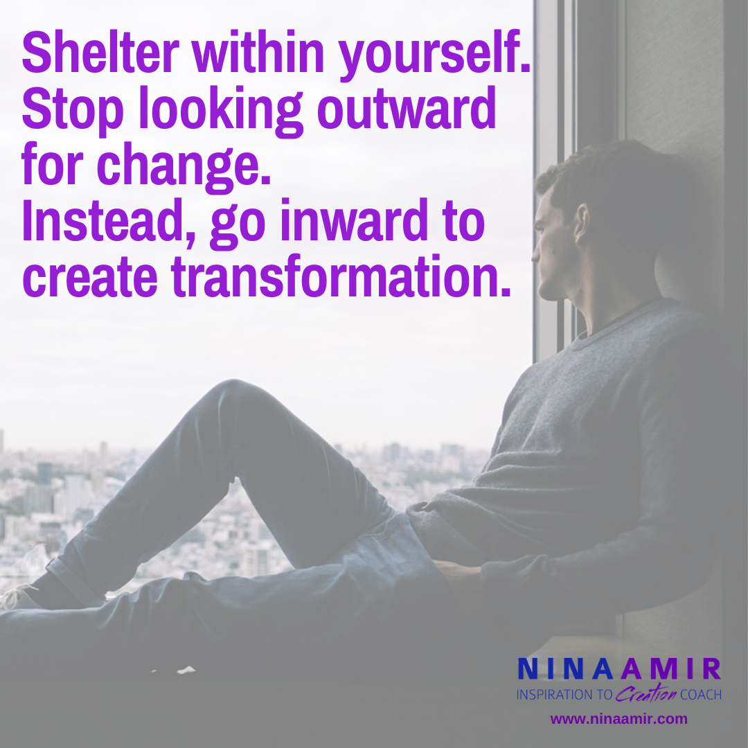 focus on transformation while you shelter at home