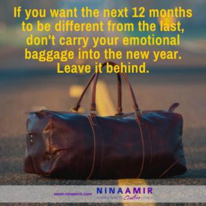 leave emotional baggage behind