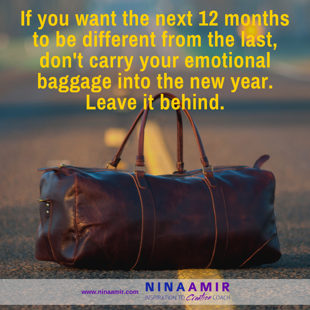 leave emotional baggage behind