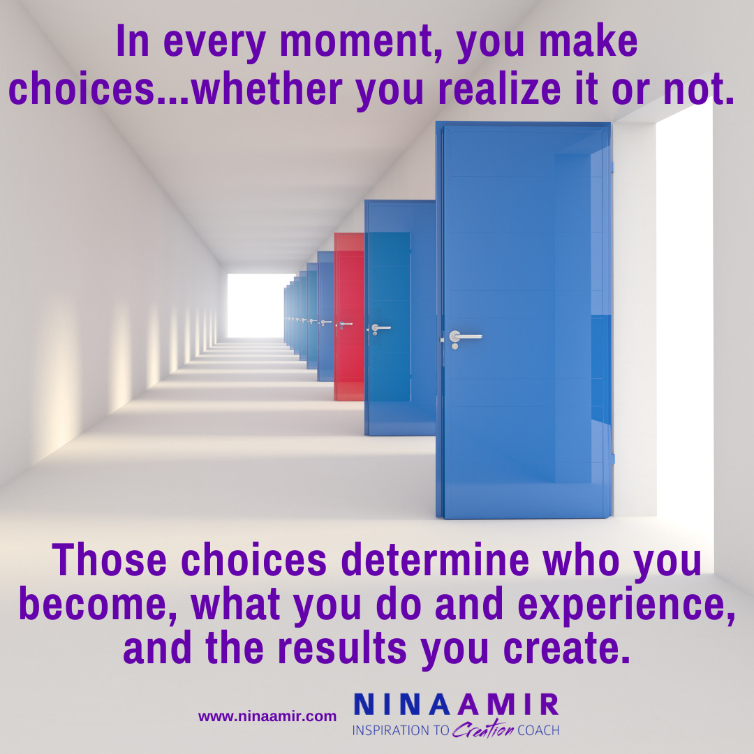 create yourself and your life with choices
