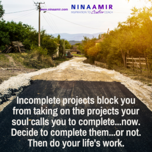 complete incomplete projects